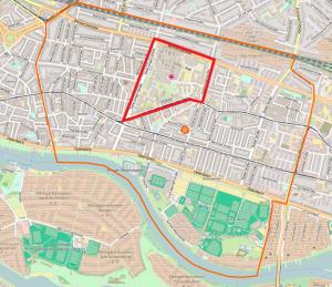 Hulsberg neighbourhood (Map: © Openstreetmap)